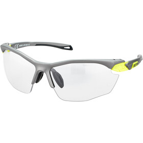 Alpina Twist Five HR VL+ Okulary rowerowe, tin matt-neon yellow/black
